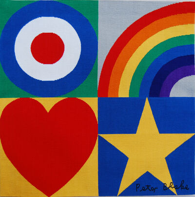 Peter Blake, 'Target, Rainbow, Star, Heart', 2013