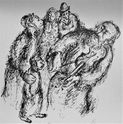 Yosl Bergner, 'The Fiddler', ca. 1990