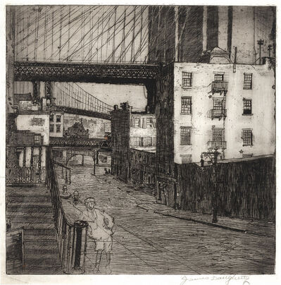 James Daugherty, 'Brooklyn Bridge With Street Urchin; Brooklyn Bridge With Manhattan Skyline; Under The Brooklyn Bridge'