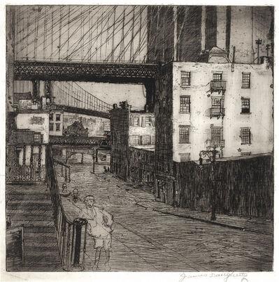 James Daugherty, 'Brooklyn Bridge With Street Urchin; Brooklyn Bridge With Manhattan Skyline; Under The Brooklyn Bridge'