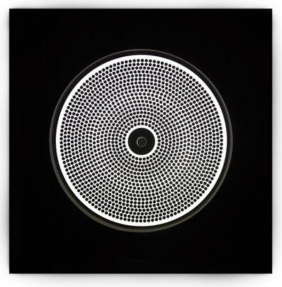 Gruppo MID, 'Quadro Stroboscopico. Matrice a dischetti neri', 1965