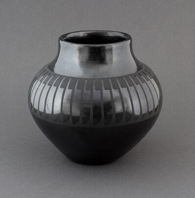 Maria Martinez and Popovi Da, 'Black-on-Black Pottery with Feather Design', 1962