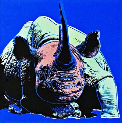 Andy Warhol, 'Blue Rhinoceros ', 1987