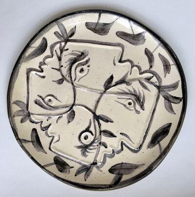 Pablo Picasso, 'Quatre Profils Enlacés (A.R. 88)', 1949