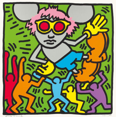 Keith Haring, 'Andy Mouse #2', 1986