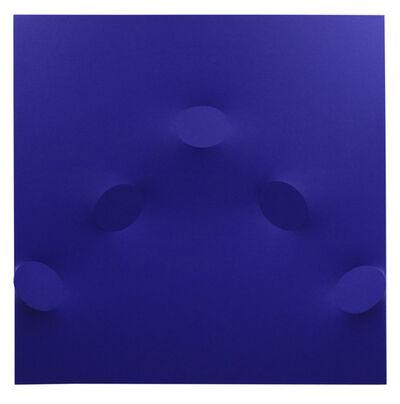 Turi Simeti, '5 ovali blu', 2017