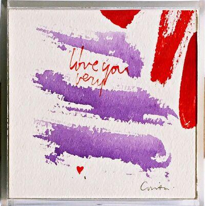Corita Kent, 'I Love You Very', ca. 1975