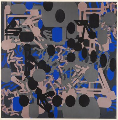 Barry Le Va, 'Sculptured Activities: Silver/Blue', 1986-87