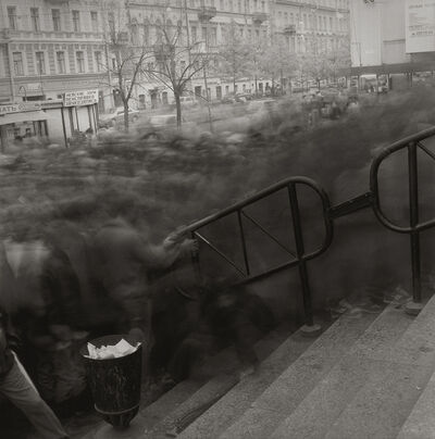 Alexey Titarenko, 'Crowd Going to Vasileostrovskaya Metro Station', 1993