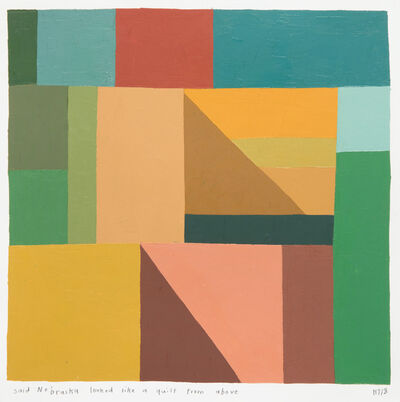 Kristin Texeira, 'said Nebraska looked like a quilt from above', 2018