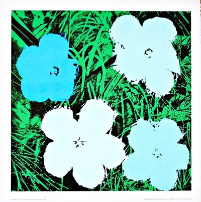 Andy Warhol, 'Blue and White Flowers ', ca. 1970