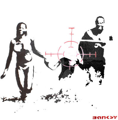 Banksy, 'Family Target (Painting)', 2003