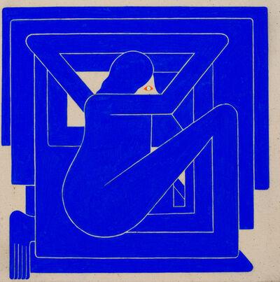 Richard Colman, 'Untitled, (Blue Figure, Orange Eye)', 2018