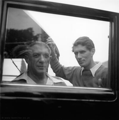 Lee Miller, 'Picasso and Roland Penrose in Mougins, France, ', 1937