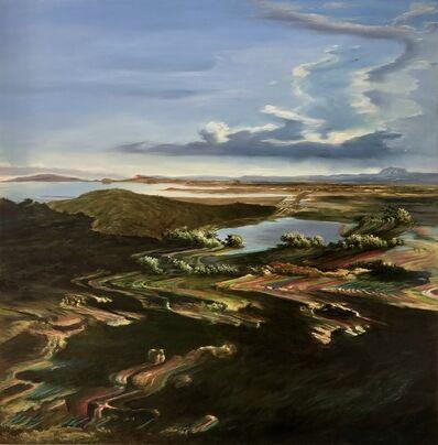 Ciler, 'Espejismo sobre pintura Valle de México desde el cerro de Santa Isabel. Pintura de José María Velasco', 2020