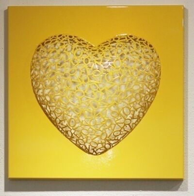 Byung-Jin Kim, 'Love-Love (Yellow)', 2015