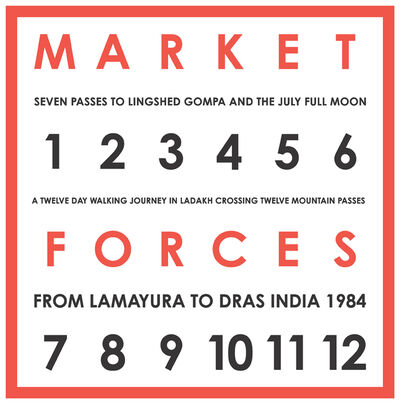 Hamish Fulton, 'Market Forces. Seven Passes to Lingshed Gompa And The July Full Moon. A Twelve Day Walking Journey In Ladakh Crossing Twelve Mountain Passes, From Lamayura To Dras India, 1984', 1984