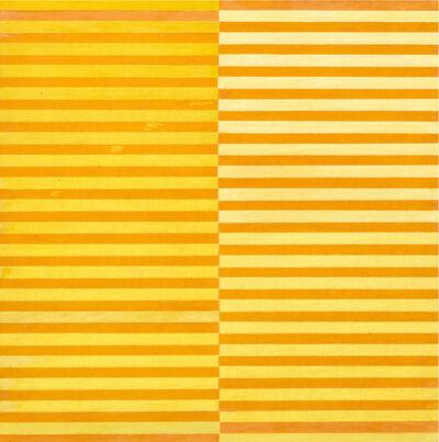 Dadamaino, 'Ricerca del colore. Giallo su arancio', 1966-68