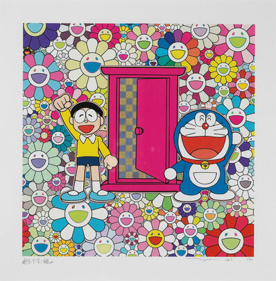 Takashi Murakami, 'Doraemon: We Came to the Field of Flowers Through Anywhere door (Dokodemo Door)', 2019