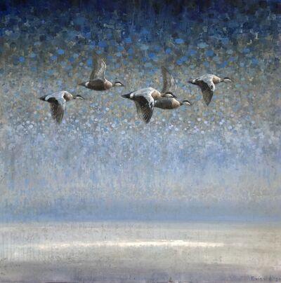 Ewoud De Groot, 'Vlucht Eidereenden / Flight Common Eiders', 2020