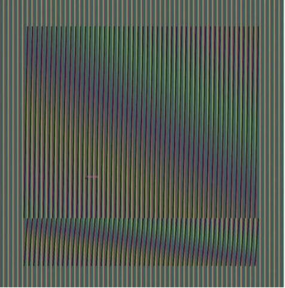"Carlos Cruz-Diez, '""Induction Chromatique à Double Fréquence"" Série ORINOCO', 2019"