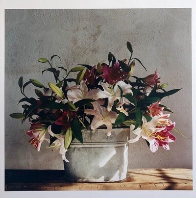 Peter C. Jones, 'Basket of Lilies, Large Format Flowers Photo 24X20 Color Photograph Beach House', 2000-2009