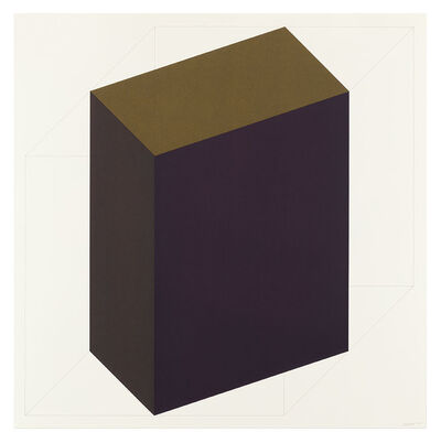 Sol LeWitt, 'Forms Derived from a Cube (Colors Superimposed) 7', 1991