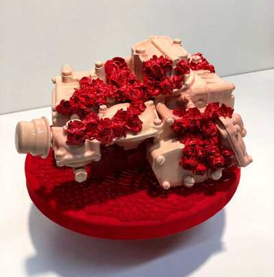 Clint Neufeld, 'Fleshy holly on a flocked doily on a cake stand', 2018