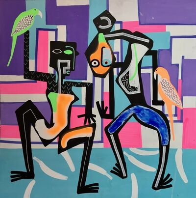 Frantisek Florian, 'African figures 19', 2018
