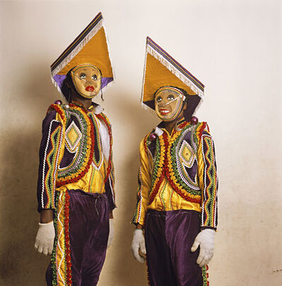 Phyllis Galembo, 'Two in Fancy Dress, Red Cross Masquerade Group, Ghana', 2010
