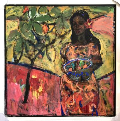 John Maitland, 'Girl with Basket of Mangoes', 2019