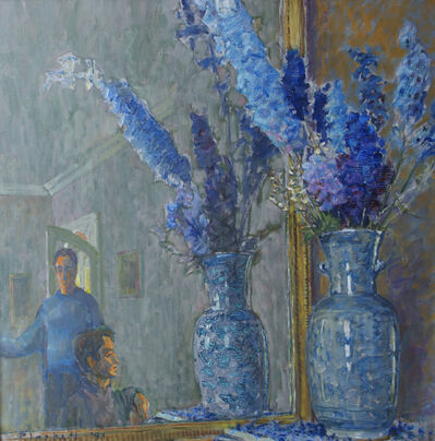 Joseph Plaskett, 'Delphiniums and Figures 1', 1993