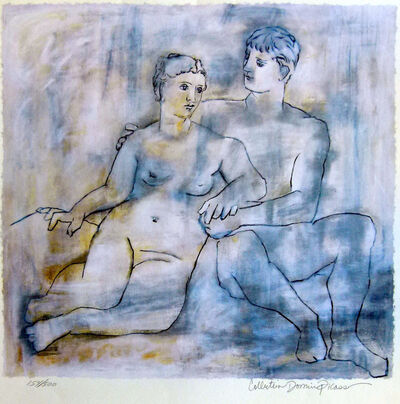 Pablo Picasso, 'Blue Lovers'