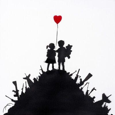 Banksy, 'Kids On Guns (Canvas)', 2003