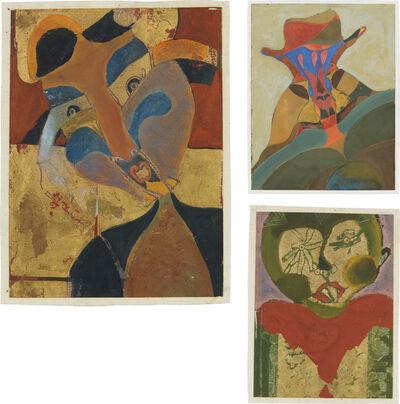 Francisco Toledo, 'Three works: i) Mujer con trenzas; ii) Hombre arlequín; iii) Tamin ojos estrellas', 1965