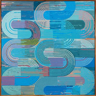 Sunny Taylor, 'Blue Technicolor Curves', 2020