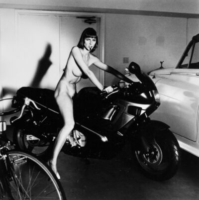 Helmut Newton, 'Riders - lot of five photos', 1988