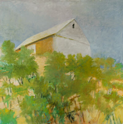 Wolf Kahn, 'Gray Sky, Gray Barn', 2006