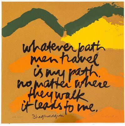Corita Kent, 'Whatever Path ', 1978