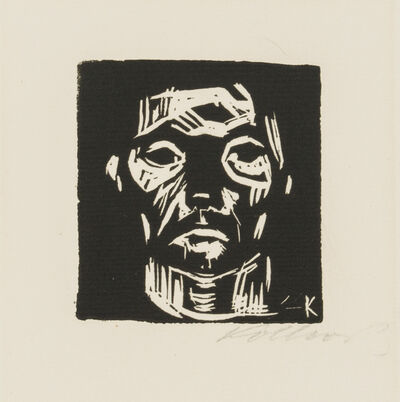Käthe Kollwitz, 'Small Head of a Man without Hands', 1922