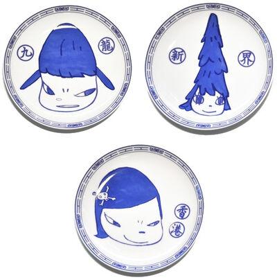 Yoshitomo Nara, 'set of 3 plates', 2015