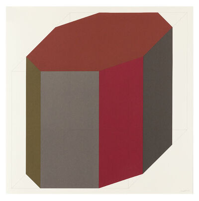 Sol LeWitt, 'Forms Derived from a Cube (Colors Superimposed) 8', 1991