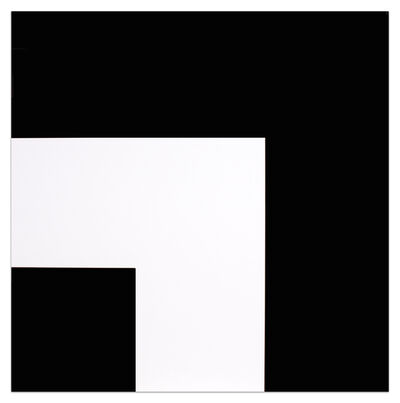 Ellsworth Kelly, 'Two Blacks and White', 2000