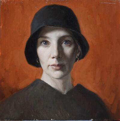 Cornelia Hernes, 'Self Portrait with Black Hat ', 2018