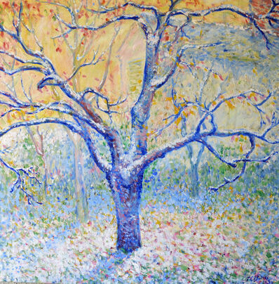 Theodore Earl Butler, 'Blue Tree in Winter, Butler's garden, Giverny', 1923