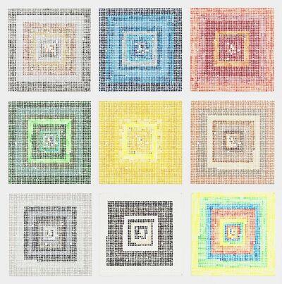 Jennifer Losch Bartlett, 'Fibonacci 1-987', 2010