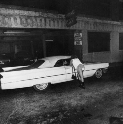 Jeffrey Silverthorne, 'Denise Hustling, outside of Homestead Cade, Providence, RI', 1972
