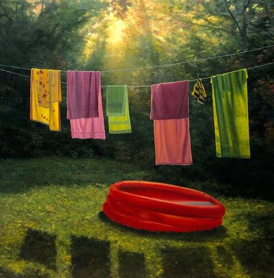 Scott Prior, 'Towels and Pool', 2019