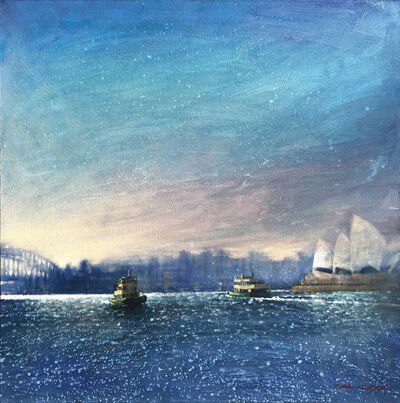 David Hinchliffe, 'Sydney Ferry Sunset', 2019