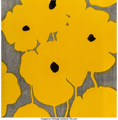 Donald Sultan, 'Light Yellows with Flocked Centers', 2002